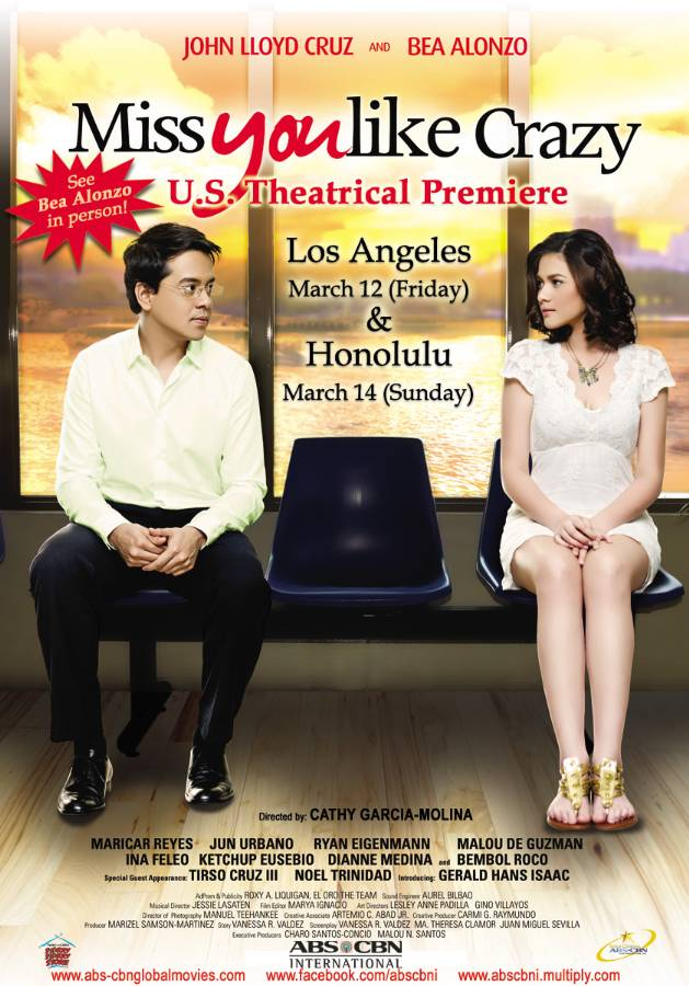 """Bea Alonzo to grace U.S. premieres of """"Miss You Like Crazy"""""""