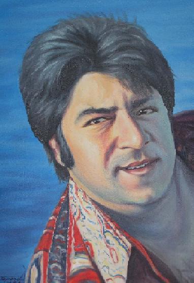 Ahmad Zahir. A famous singer of Afghanistan