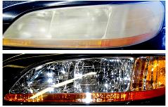 Honda Accord before & after Headlight Restoration