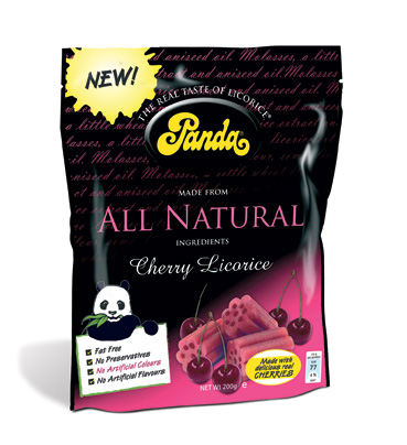 Panda Licorice cherry bag
