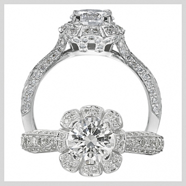 A Floral by Ritani diamond engagement ring