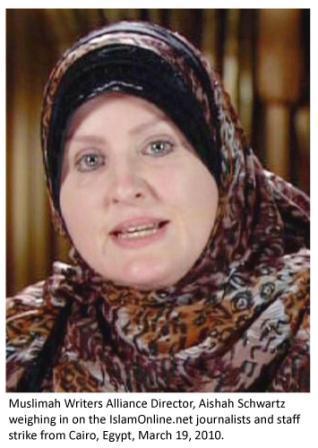 Muslimah Writers Alliance Director, Aishah Schwartz.