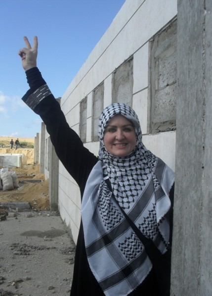 Aishah Schwartz at Erez Border in Gaza December 30, 2009.