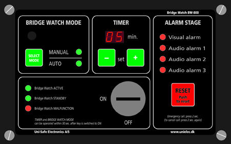 New Bridge Navigational Watch Alarm System BW-800