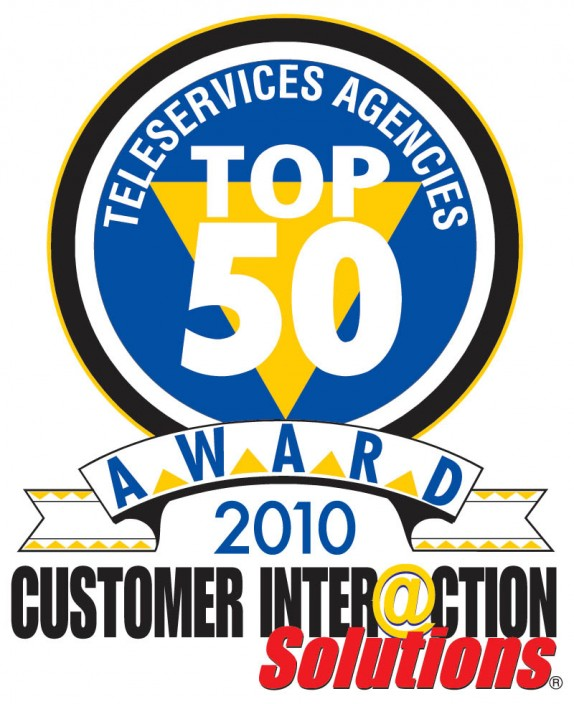 Fab Top 50 Award: 24-7 INtouch Named A 2010 Top 50 Teleservices Agency For