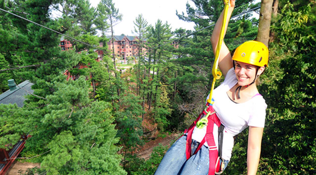 Wisconsin Dells Golf Wisconsin Dells Resort: NEW Zip Lining Adventure At Wilderness Resort Opens April