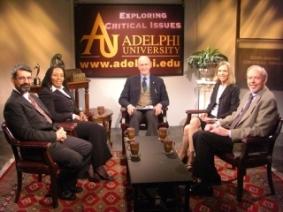 Dr. Scott (center), Dr. Agelerakis, Dr. Conway, Dr. Hyland, Dr. Garner (l to r)