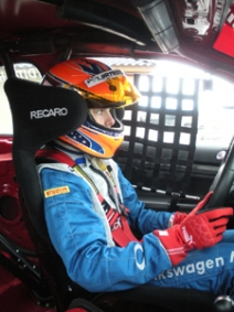 Colin Thompson, youngest driver to compete in Volkswagen Jetta TDI Cup