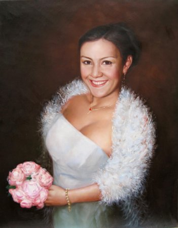 Wedding Portrait Painting Custom Oil