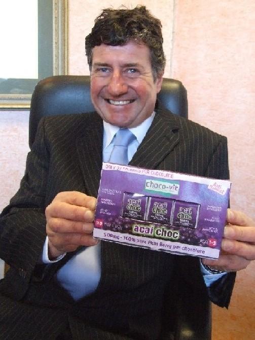 Gary Bailey with a box of Choco-Vit