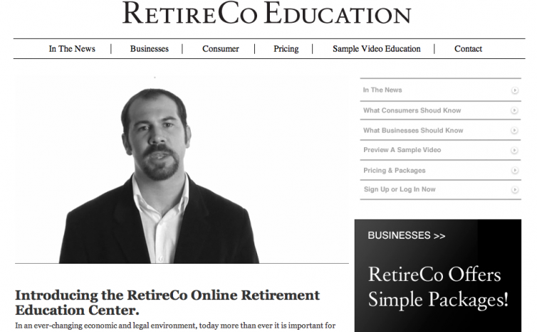 RetireCo Education Website