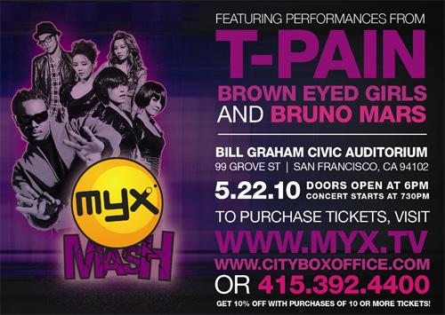 T-Pain, Brown-Eyed Girls & Bruno Mars in MYX Mash
