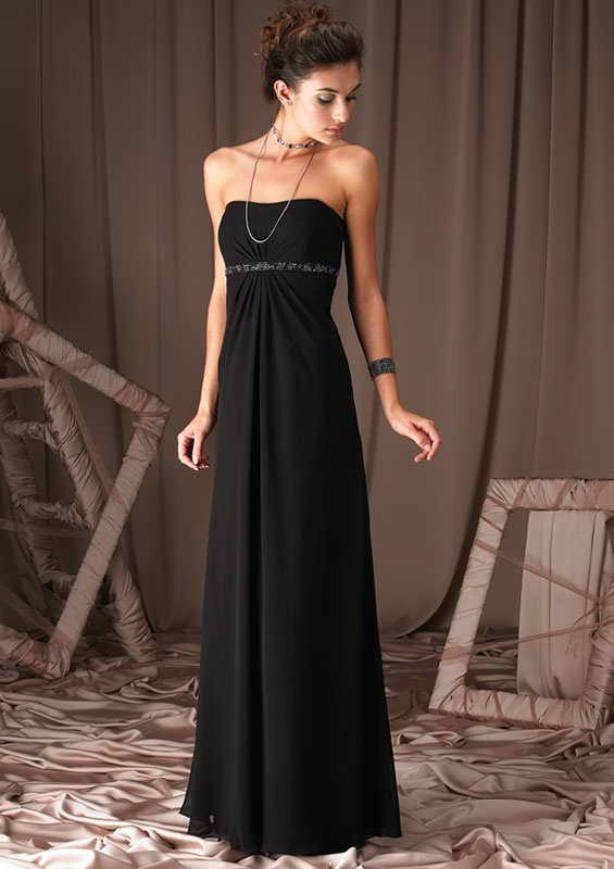 Bridesmaid Dresses Black Satin - High Cut Wedding Dresses