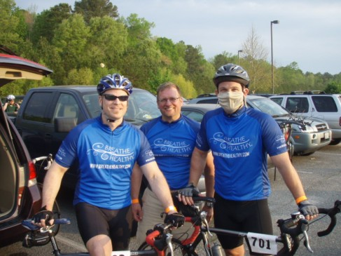 Team Breathe Healthy at the Tour de Cure