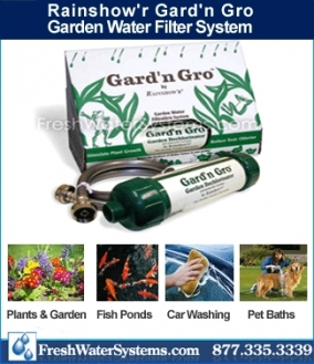 Garden hose water filter system by rainshow 39 r for Garden water filter system