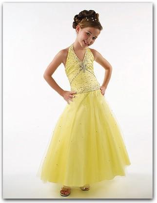 Yellow / Orange Flower Girl Dresses - Girls Dress Line