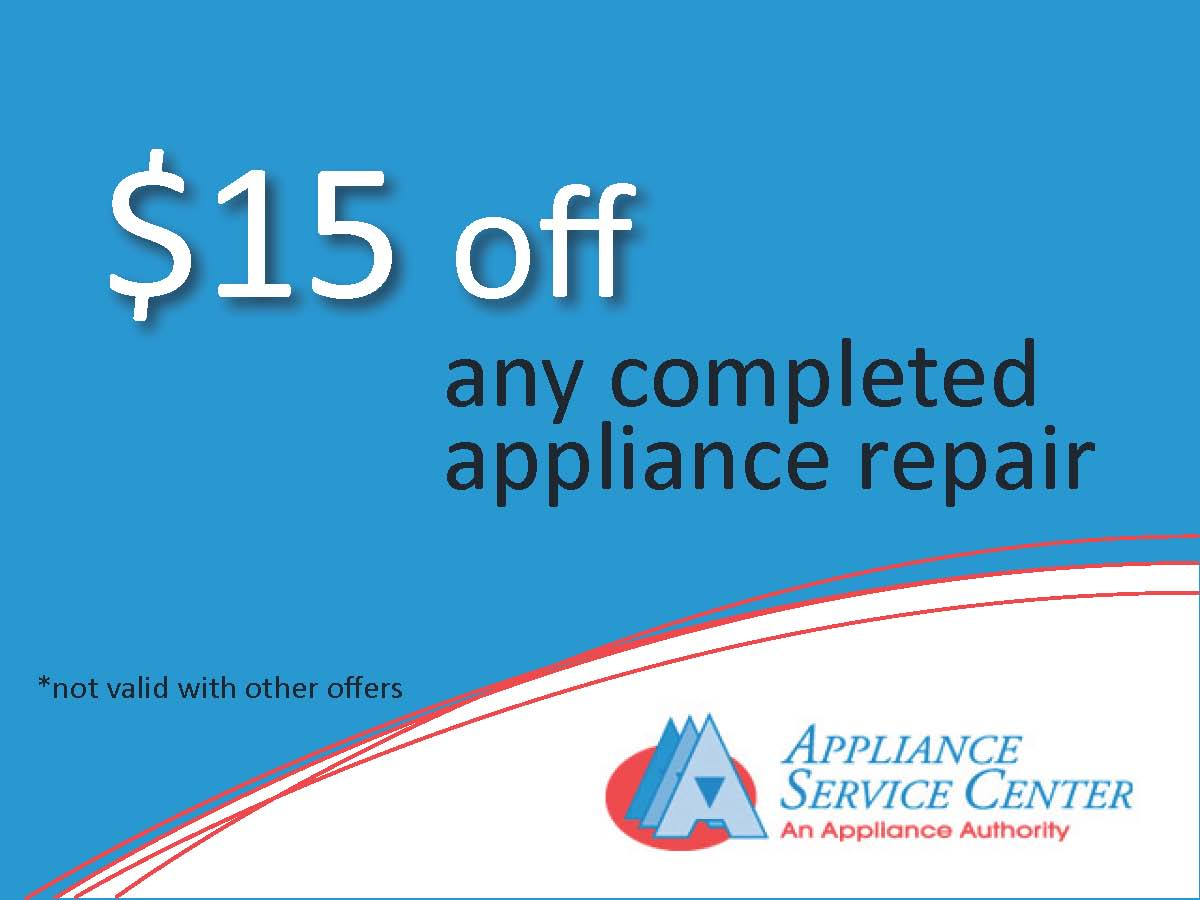 Chicago Appliance Repair Center offers Discounts.