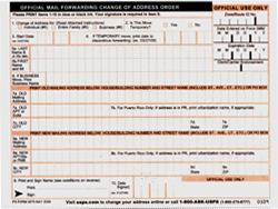 Form: NEW USPS FORM FOR ADDRESS CHANGE