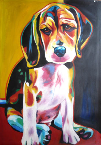 Know oil painting characteristics to buy right oil for Abstract animal paintings