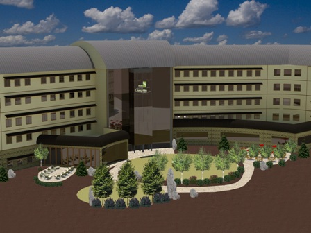 Adoba Eco Hotel & Suites Back Courtyard Rendering