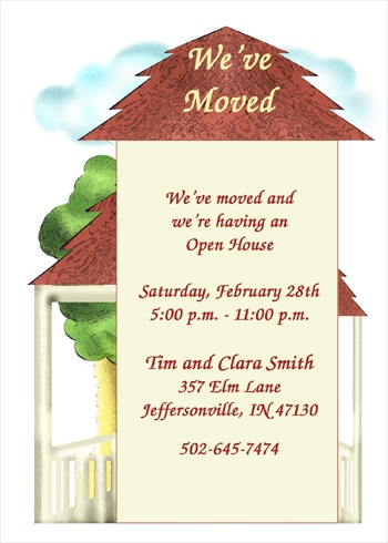 open house housewarming party invitation wording