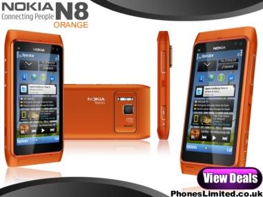 Nokia N8 Orange, But Black is Likely Orange Exclusive
