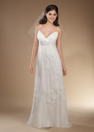 Beautiful but cheap wedding dress spaghetti straps for Cheap but beautiful wedding dresses