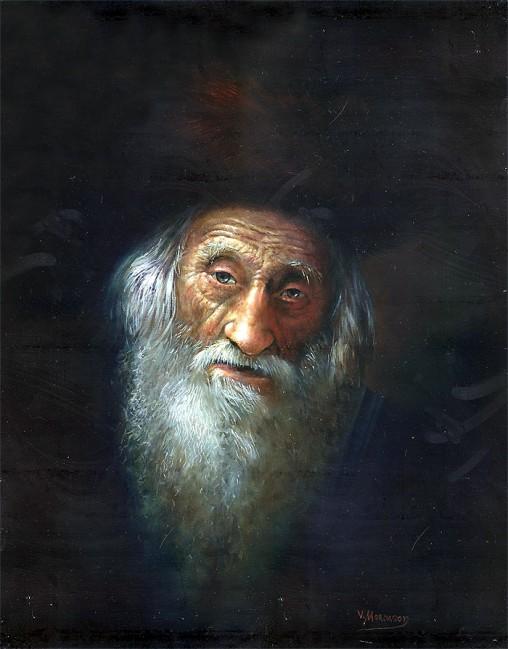 "Victor Mordasov ""Wisdom"" oil painting 16"" x 20"" framed"