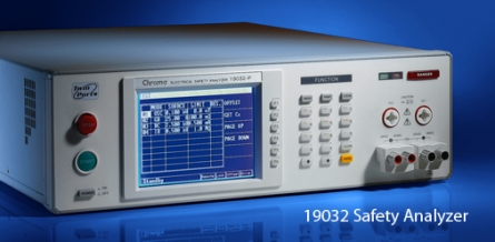 Chroma 19032 Safety Analyzer - Five Safety Tests in One Box.