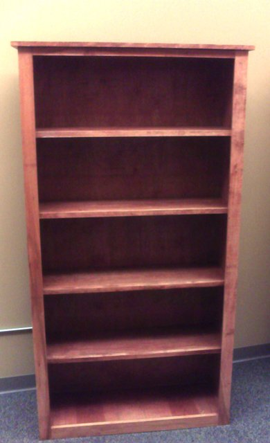 Elegant bookcase, simple construction using basic tools, available free at WWGOA