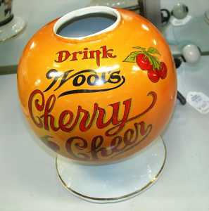 This rare Wool's Cherry Cheer syrup dispenser will be sold Saturday, June 12.