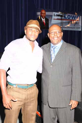 """The Game"" Actor Hosea Chanchez and Gary mayoral candidate Lester Lowe"