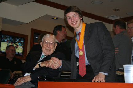 Everett Frost Pictured with Coach Wooden