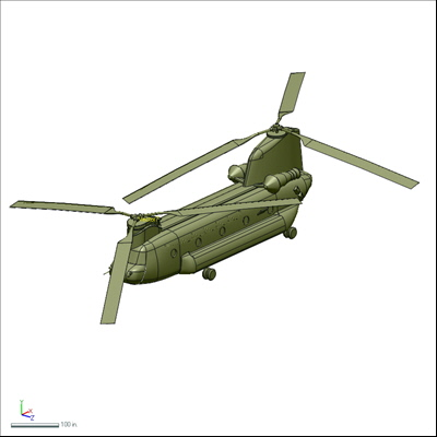CH-47 Helicopter Model from 3D Scanning