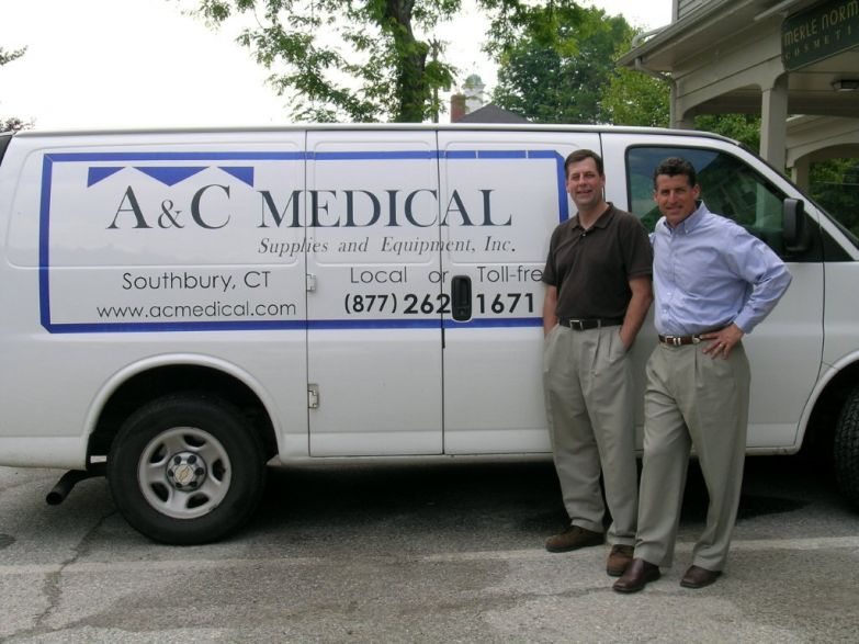 New owners of A&C Medical Supplies & Equipment, Todd Schuck (r) and Craig Schuck