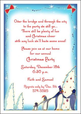 christmas carol invitation