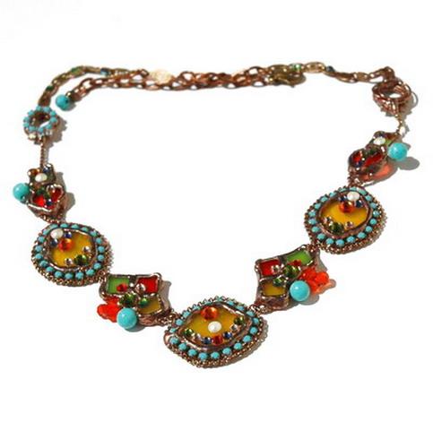Handmade Necklace with Flowers on MostOriginal.com