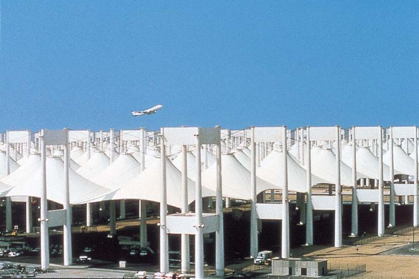 Hajj Terminal at King Abdul Aziz International Airport in Jeddah, Saudi Arabia