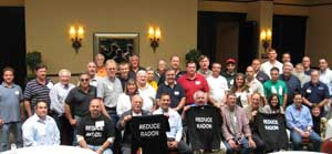 NE AARST members with Radon Tee