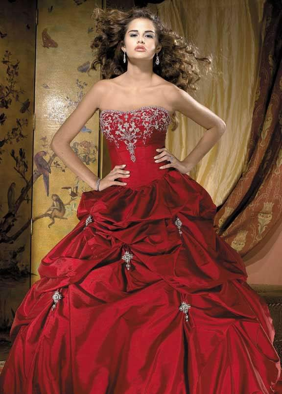 Red Wedding Gown: Red Wedding Dress Ball Gown -- Zoombridal.com