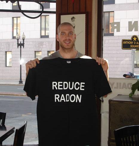 Boston Blazers Paul Dawson with Radon Tee