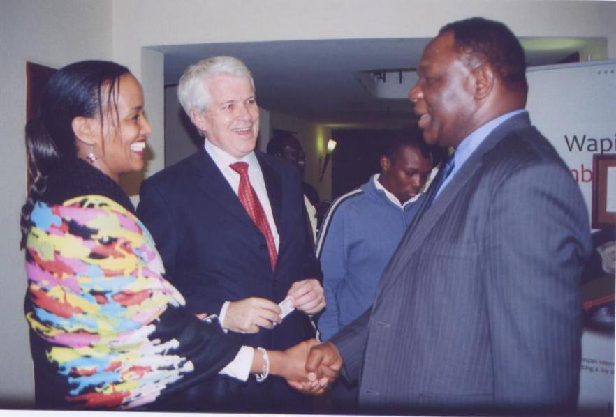 Ms.Sophia Bekele, Mr.Barry Ryan, H.E. Dr. PS.Ndemo