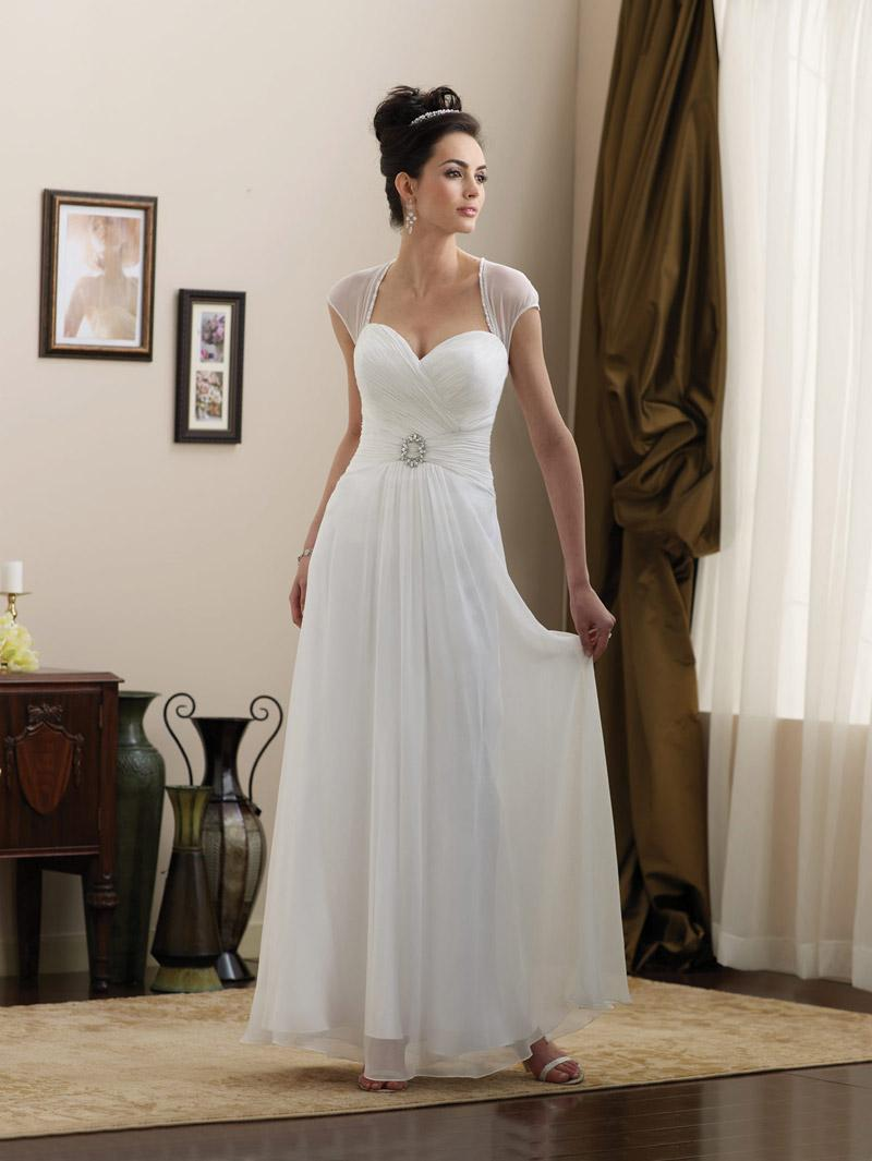 1 Shoulder Wedding Gowns