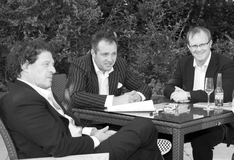 Marco Pierre White, Nick Taplin and Mark Hands