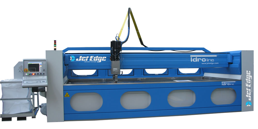 Jet edge introduces idro line 5 axis water jet machine