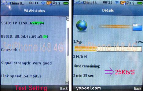 i68 4G Wifi Test