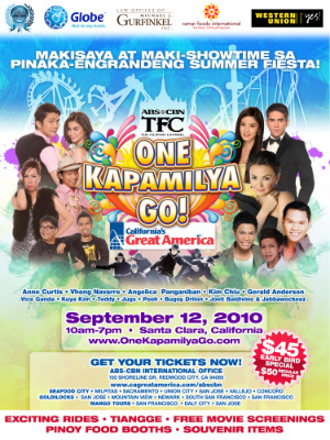 It's your SHOW!  It's your TIME! One Kapamilya Go!