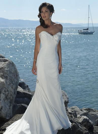Beach Destination Wedding Dress