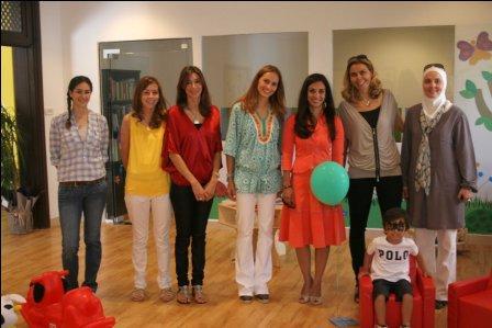 HRH Princess  Rahma Bint El Hassan with the B ook'n'Brush Staff