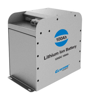 Lithium Ion Battery 100Ah 12VDC from Clayton Power